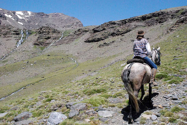 On horseback in the mountains of southern spain