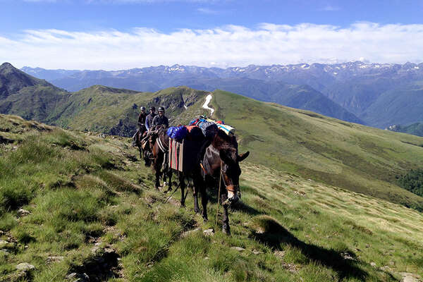 On horseback in the Pyrenees