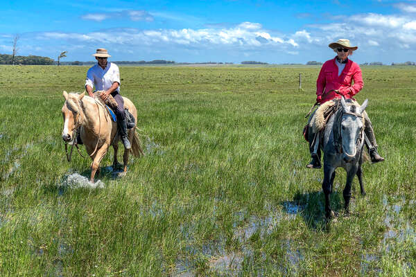 On horseback in the Uruguayan pampa