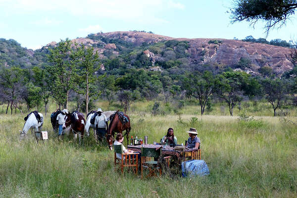 Picnic in Zimbabwe on your horseback safari
