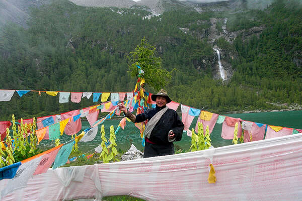 Prayer flags in Tibet, China