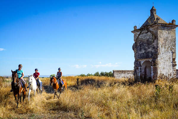 Rider on a trail ride at Epona, Spain
