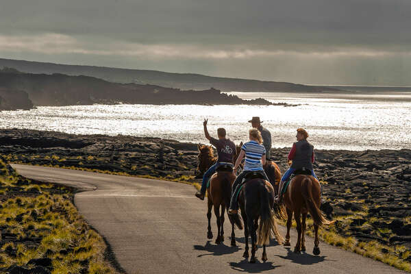 Riders and sunlight on Faial Island