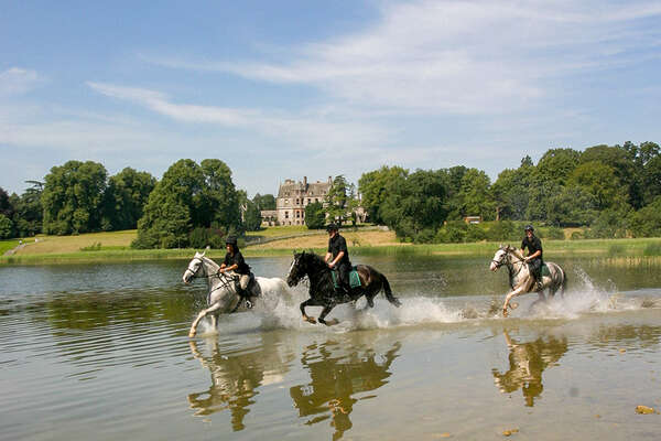 Riders in Ireland at Castle Leslie