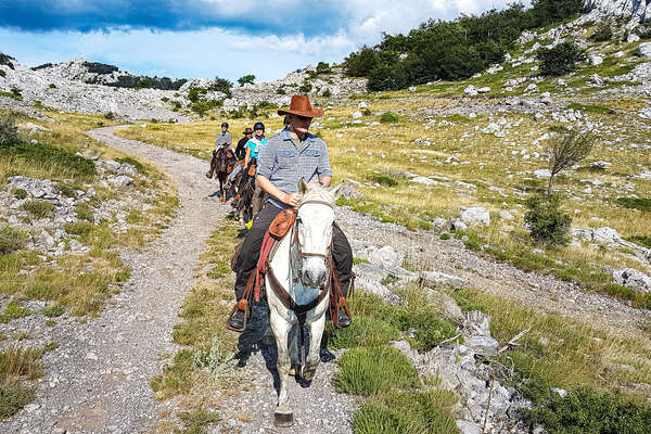 Riders in the Velebit Natural park, Croatia