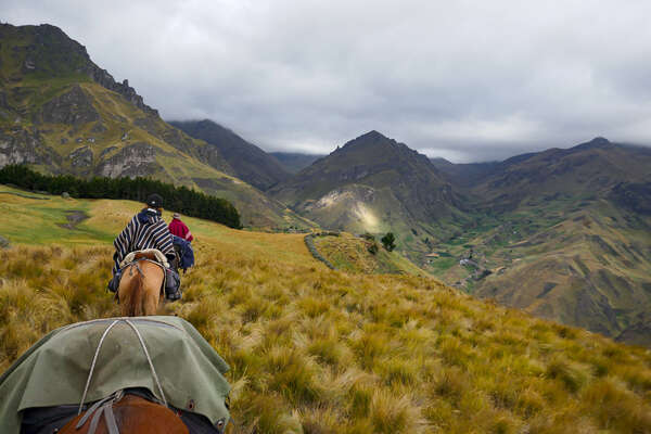 Riding expedition in the Andes