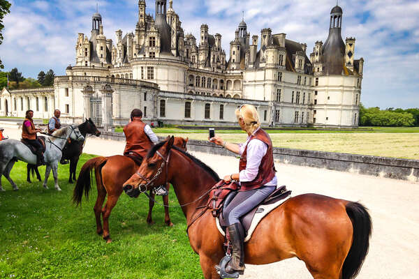 Riding holidays in the Loire Valley with Chambord Castle