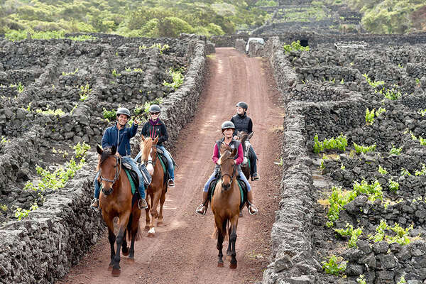 Riding on Pico Island in Azores