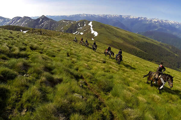 Riding trail in the Pyrenees