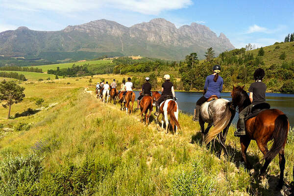 South Africa Cape Winelands riding trails