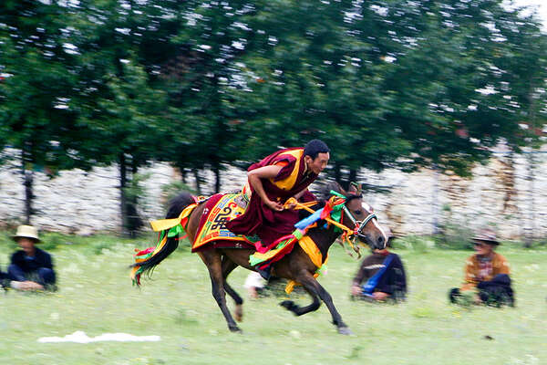 Tagong Festival and horse race
