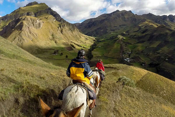 Trail ride in Ecuador from Cotopaxi to Quilotoa