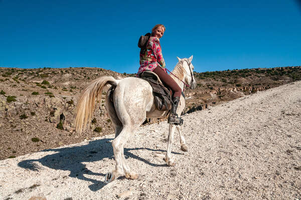 Trail ride on horseback in Cappadocia Turkey