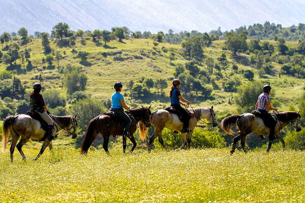 Trail riding in Albania, mountain ride