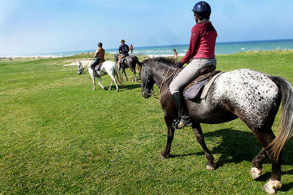 Trail riding in Normandy