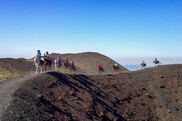 Trail riding on Mt Etna with Equus Journeys and Ride Sicily