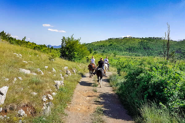 Velebit mountain biosphere reserve on horseback