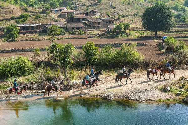 Vishnoi villages as seen on a horseback holiday in Rajasthan